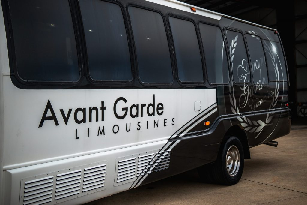 Exterior Decal of Limo Coach for Avant Garde Limousines