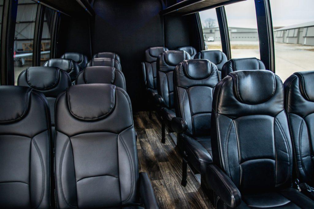 Interior Seating of Executive Mini Coach for Avant Garde Limousines
