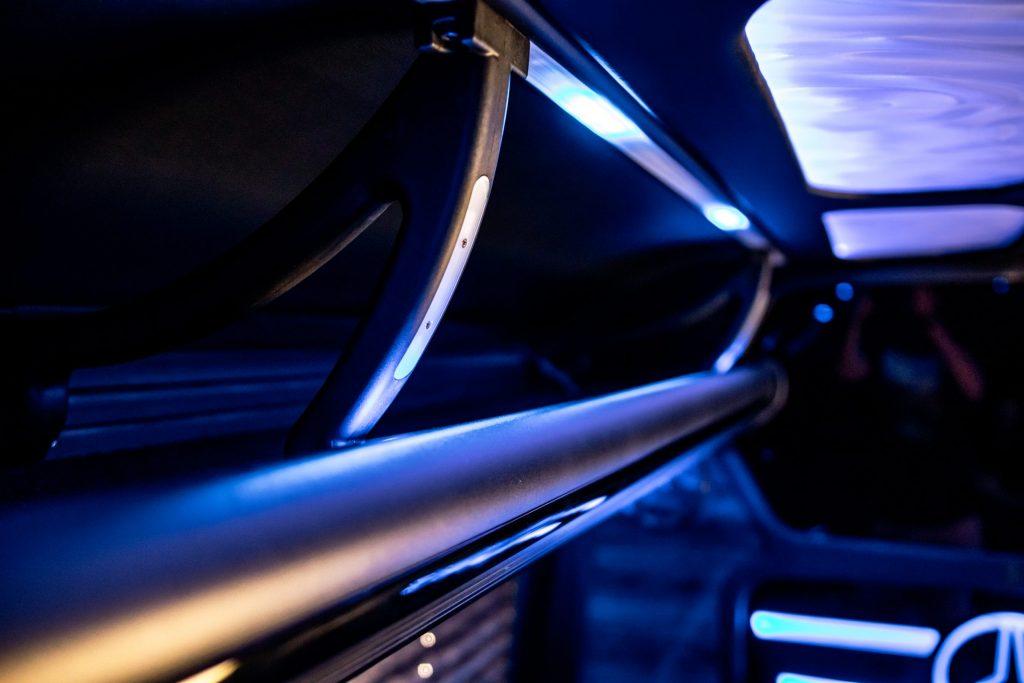 Mercedes Sprinter Limo interior close-up