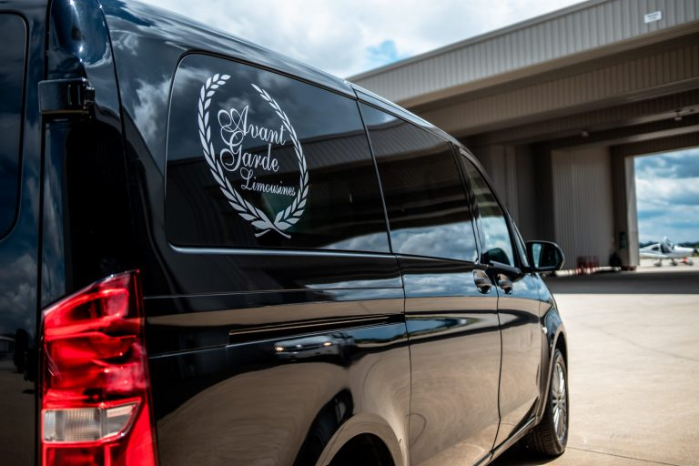 Mercedes Metris rear view with decal