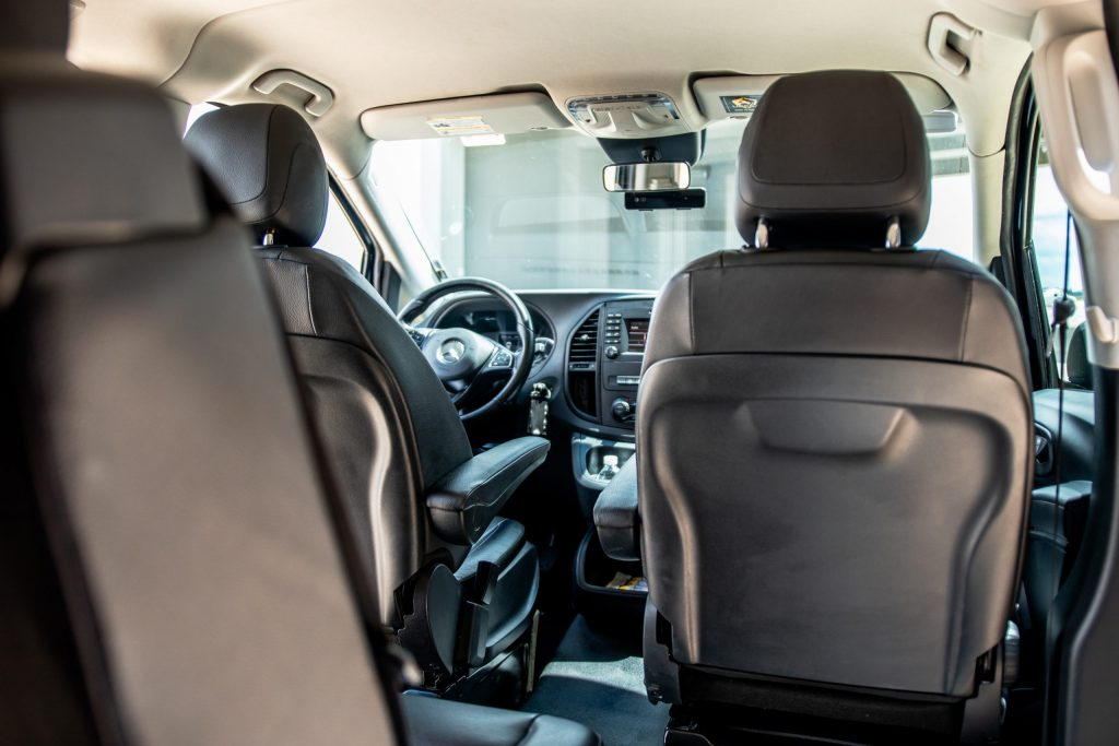 Mercedes Metris view from back seats